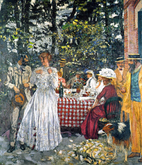 Édouard Vuillard - The Terrace at Vasouy. Luncheon