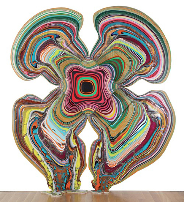 Pour Paintings by Holton Rower (image via theholenyc.com)