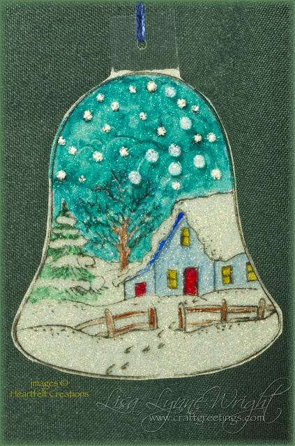 Glittering Bell Ornament