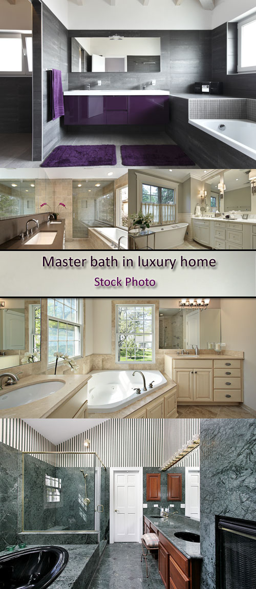 Stock Photo: Master bath in luxury home