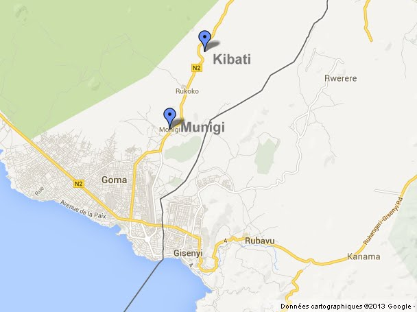 Des obus ont tué des civils à Goma jeudi 22 août 2013 lors des combats entre FARDC et M23 alors que la ligne de front se trouve à Kibati.