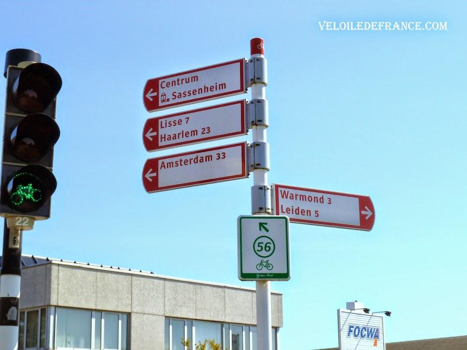 "Panneaux cyclistes ""LF"", Pays-Bas"