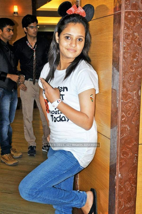Shobhita during a cartoon-themed party organised by Modern Dental College and Research Centre, in Indore.