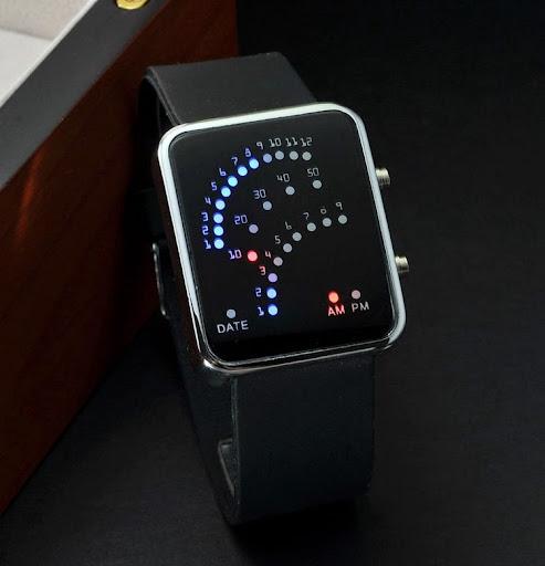 Luxury LED Digital Watch Red & Blue Light Optional Fash
