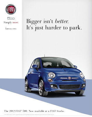 Fiat 500 - Bigger isn't better - Just harder to Park