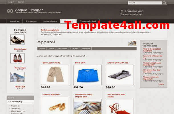 Shopping Cart Drupal Theme