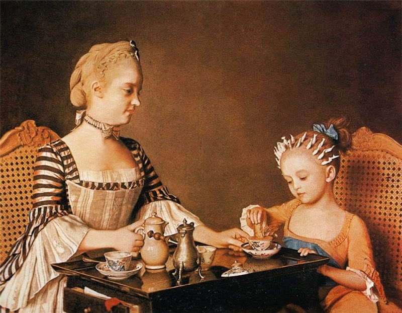 Jean-Etienne Liotard - Madame Liotard and her daughter