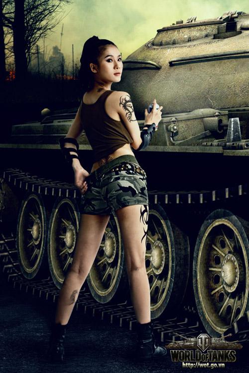 Siêu mẫu Thái Hà gợi cảm trong bộ ảnh World of Tanks 7