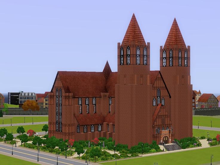 catedral gotica cattedrale sims3,goottilainen katedraali