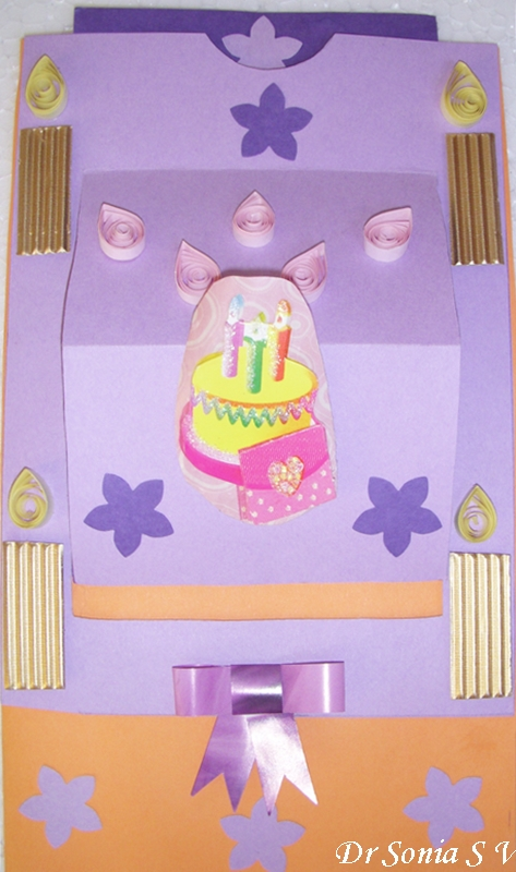 Cards Crafts Kids Projects Pop Up Birthday Cake Slider Card