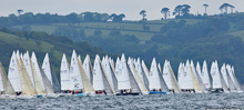 J/80s starting J/80 Worlds off Dartmouth, England