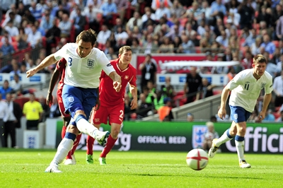 Lampard shot penalty, England - Switzerland