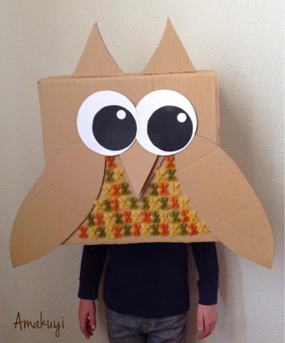 Blogersando-máscaras-buho-carton