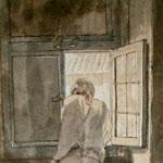 Goethe a la finestra de casa seva al Corso de Roma - J. Tischbein