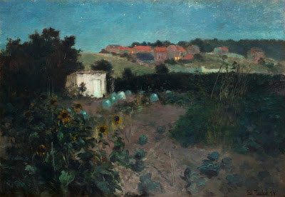 Frits Thaulow - Evening Landscape at Pas de Calais