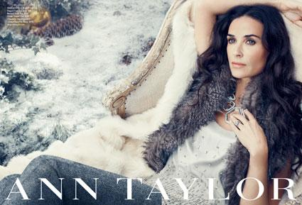 Behind The Scenes With Demi Moore for Ann Taylor's Fall 2011 Advertising Campaign