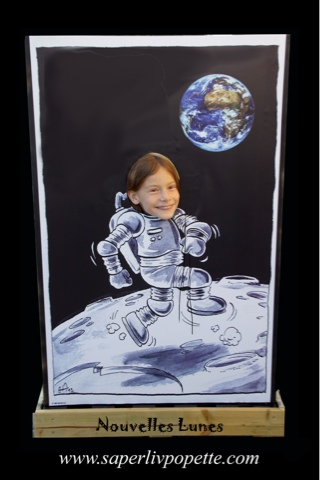"""Impression sur bâche, illustration jeunesse de """"Nouvelles Lune"""""""
