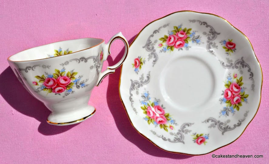 Elegant Shaped Floral Vintage Bone China