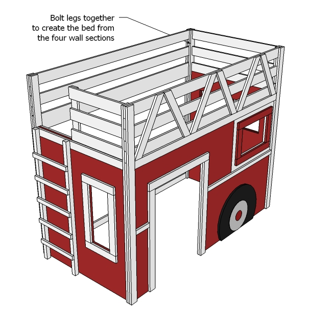 PDF Fire Engine Bunk Bed Plans fitting woodwork vice » blueprint