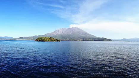 錦江湾から望む桜島