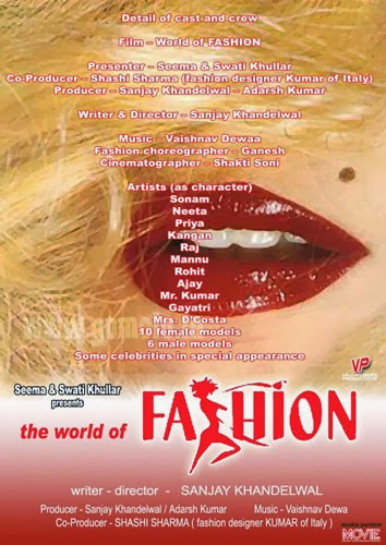 Poster Of Hindi Movie The World of Fashion (2013) Free Download Full New Hindi Movie Watch Online At Alldownloads4u.Com