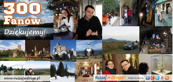 300 fanów Ruszaj w Drogę na Facebooku