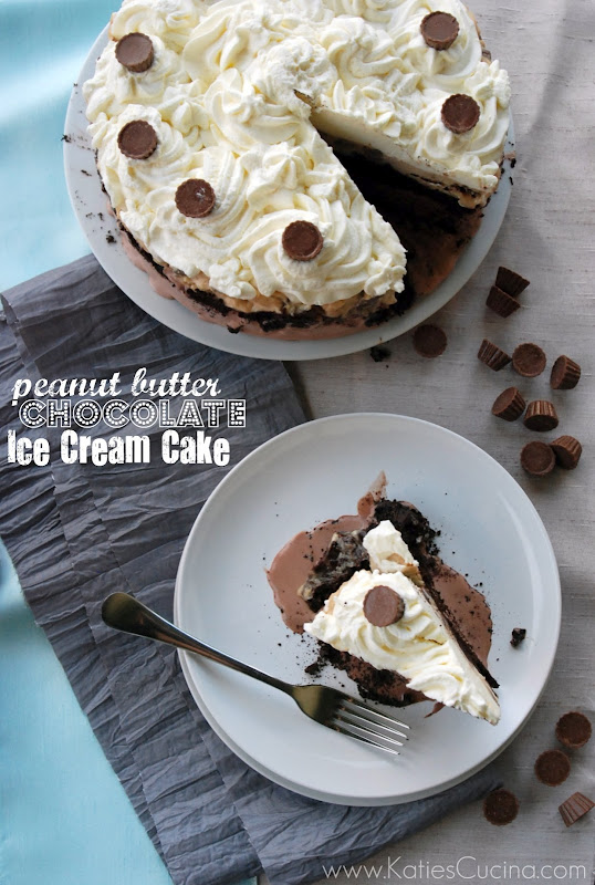 peanut butter chocolate ice cream cake