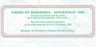 Place adulte Mirapolis de 1990 100Francs - verso