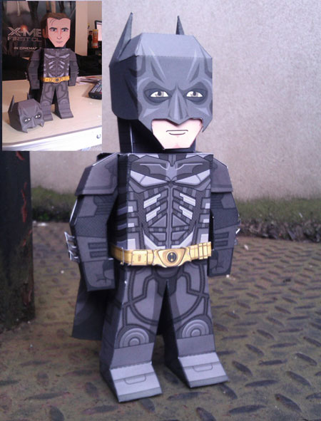 Th Dark KNight Rises Papercraft Batman