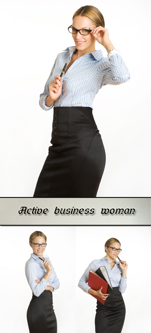 Stock Photo: Active business woman