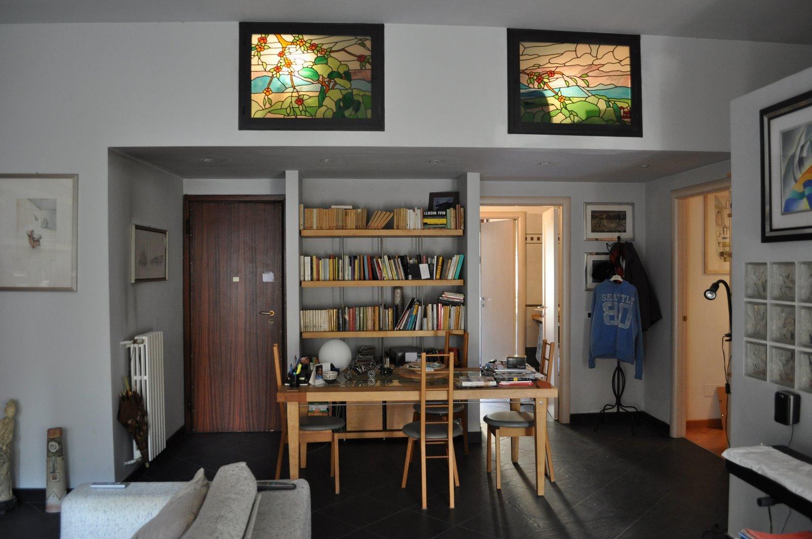 Cucina shabby con tendine - Cucina e salotto open space ...