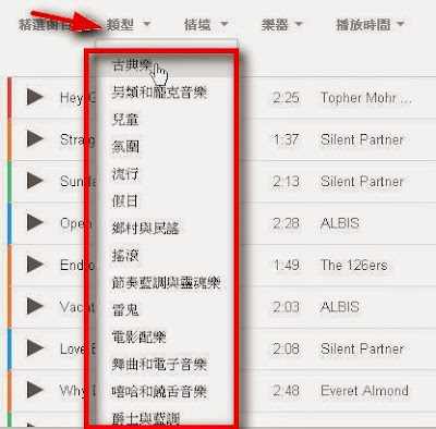 YouTube免費音樂下載 http://google.22ace.com/2015/02/youtube-free-music-and-sound-effect.html