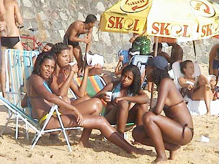 afro brazilian girls at the beach