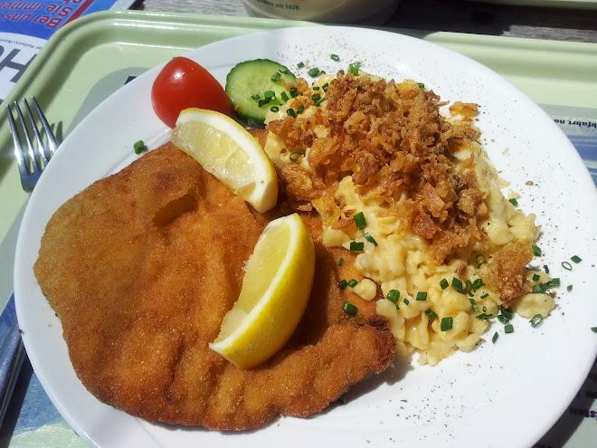 Bild vom Schnitzel mit Kässpätzle vom Panoramarestaurant an der Kanzelwand