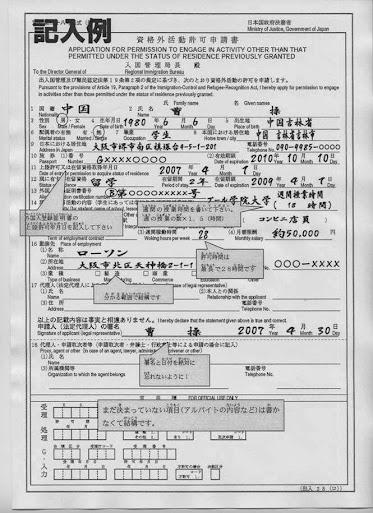 giấy phép làm thêm của du học sinh