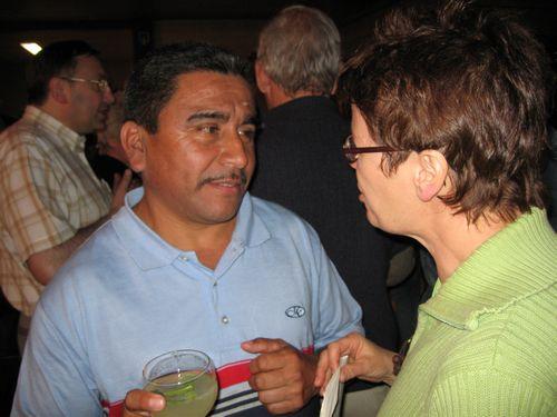 Luciano en moderator Rita. Hij is landbouwer maar wist ons met nog veel meer te boeien.