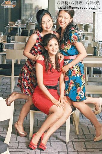 黃心穎(左起)、張名雅及朱千雪沒有因是非而影響友誼,反而令她們更團結。
