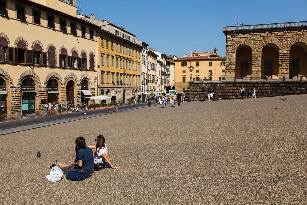 Флоренция - дошли до покатой Площади Питти