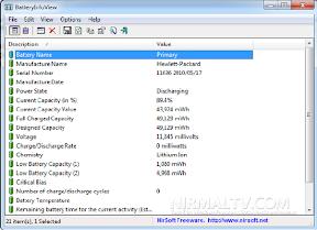 Obten informacion detallada de la bateria portatil Netbook