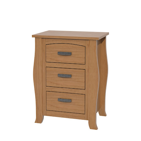 Cascade Nightstand with Drawers, Natural Cherry