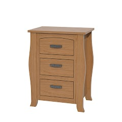 Cascade Nightstand with Drawers