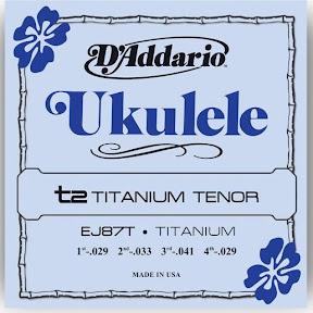 D/'Addario EJ87T T2 Titanium Tenor Ukulele Uke Strings