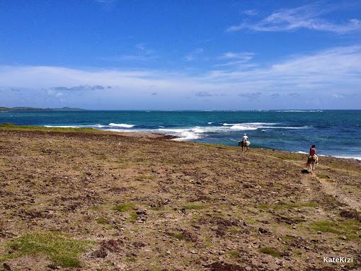 Вид на Атлантику с мыса, отделаяющего Большой Макабу от Малого