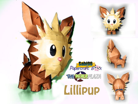 Pokemon Lillipup Papercraft