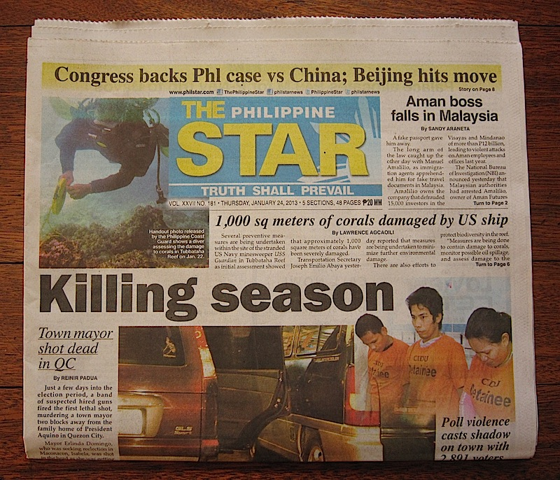 January 24 issue of the Philippine Star