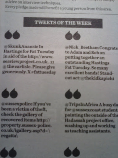 Tweets of the Week 1, Social Media in Hastings Newspaper socical media Local Newspaper's Terrific Twitter Marketing  CAM00023