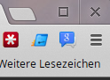 Chrome Menü in Chrome 22