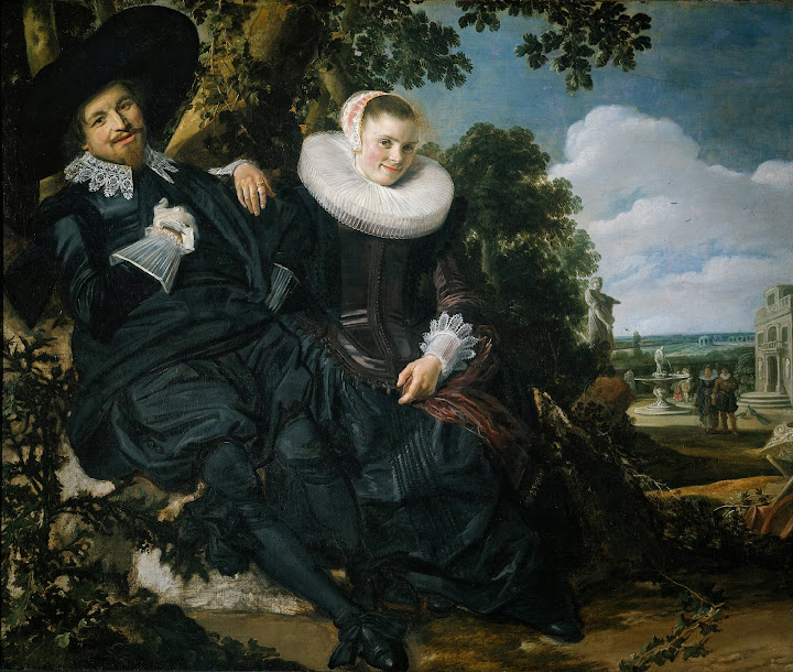Frans Hals - Marriage Portrait of Isaac Massa en Beatrix van der Laen