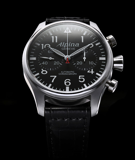 New Alpina Startimer Pilot Chronograph detail