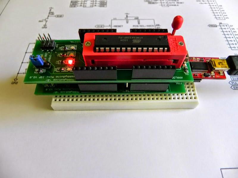 Hobbyduino Mini Boot-loader ISP Shield | Hobbybotics